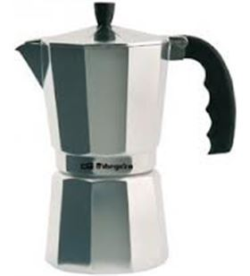 Cafetera inox Orbegozo kf900, 9 tazas, aluminio ORBKF900