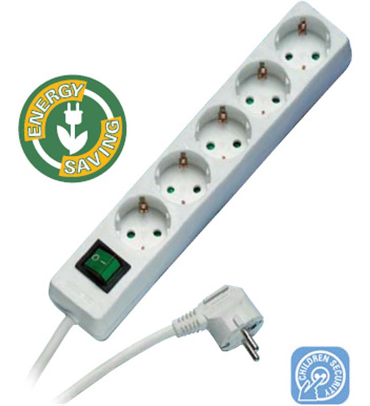 Regleta 5 schukos-interr bl Vivanco 27016 Cables - 27016