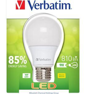 Verbatim bombilla led verbatin 52601 classic a e27 9w