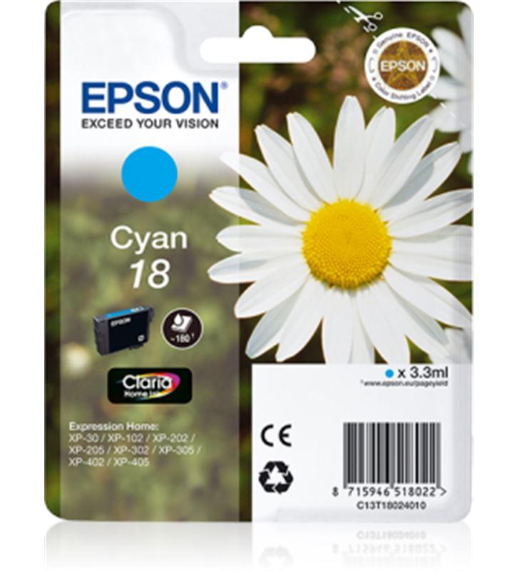 Cartucho tinta Epson C13T18024010 cián (margarita Fax digital y cartuchos de tinta - C13T18024010