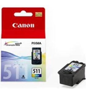 Cartucho tinta Canon cl-511 cian, magenta, amarill 2972B001 - 2972B004