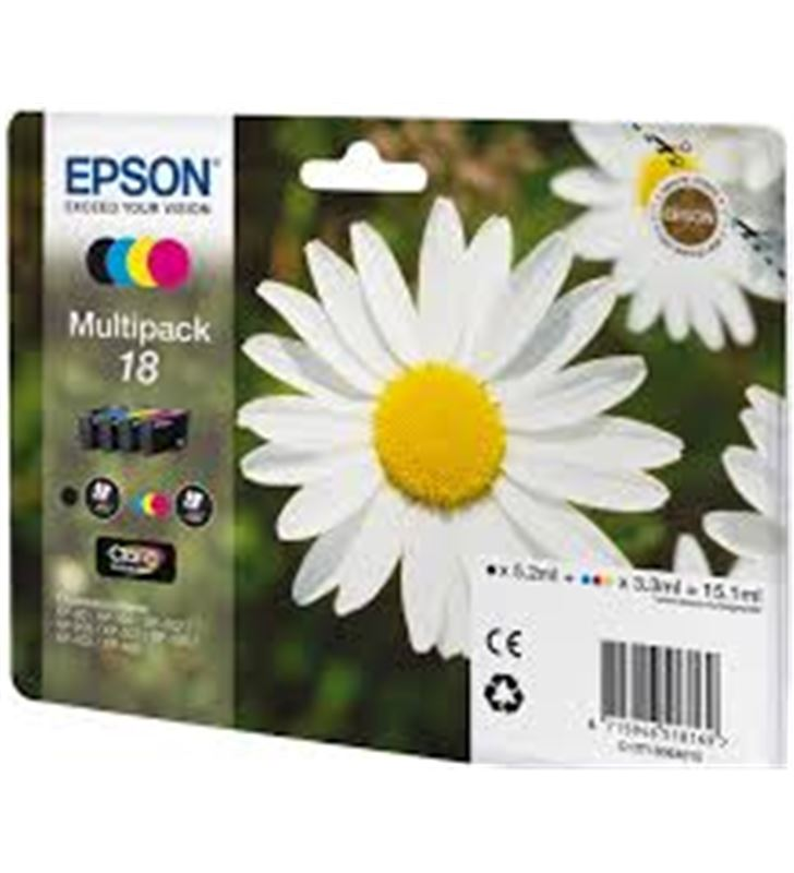 Cartucho tinta Epson nº 18 C13T18064010 pack 4u a) - C13T18064010