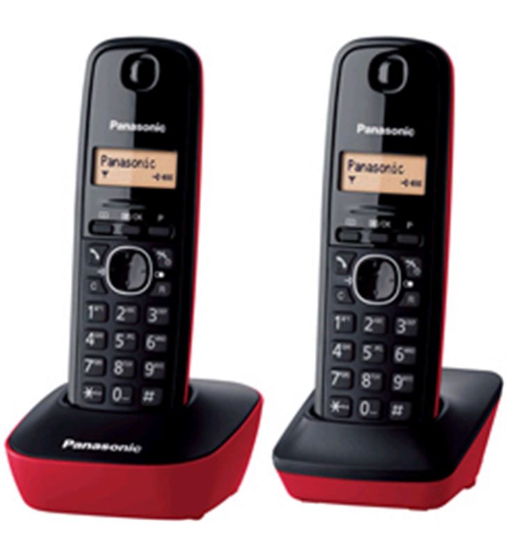 Telefono duo Panasonic KXTG1612SPR, básico, ident. - 5025232621910