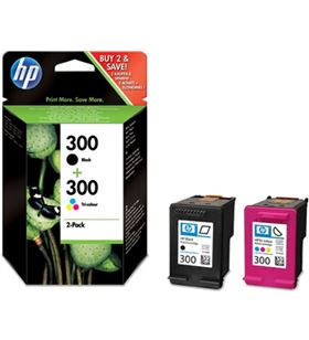 Cartucho tinta Hp nº 300 pack tricolor + negra, cn CN637EE - CN637EE
