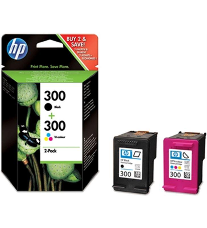 Hp CN637EE cartucho tinta nº 300 pack tricolor + negra, cn - CN637EE