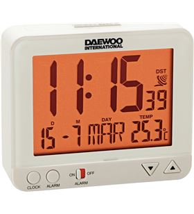 Radio reloj despertador Daewo DCD200W, pantalla re - DCD200W