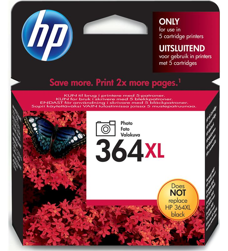Cartucho tinta Hp nº 364xl negra photo CB322EE Fax digital cartuchos - CB322EE