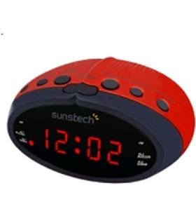 Radio despertador Sunstech FRD16RD rojo Despertadores - 8429015015298
