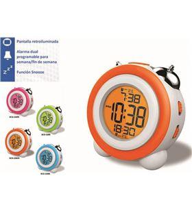 Daewoo reloj despertador daewo dcd220or, pantalla retroil dbf130