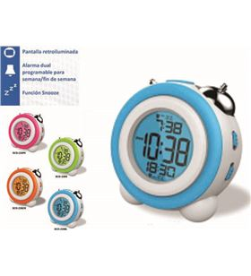 Reloj despertador Daewo DCD220BL, pantalla retroil - DCD220BL