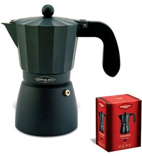 Cafetera fuego Oroley touare 6t aluminio negra 215040300
