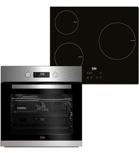 Beko conjunto horno multifuncion + placa inducción 3 zonas BSE22341X