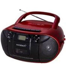 Sunstech radio cd/cassette cxum52rd usb vermell