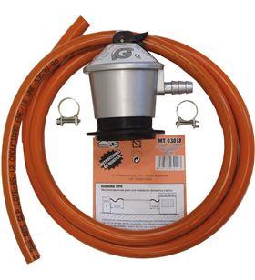 Mercagas tubo manguera butano 1,5 m + abrazaderas + regulador mt03018