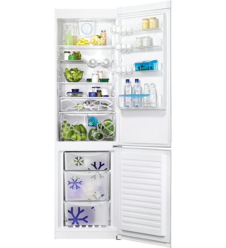 Zanussi frigorifico combi ZRB38315WA blanco 200cm Frigoríficos combinados - ZRB38315WA-2