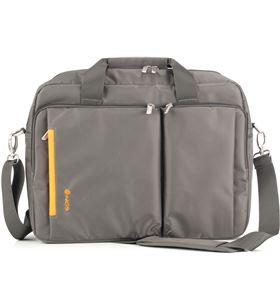Ngs maletín de nylon portátil 15,6'' color gris y naranja VERONA
