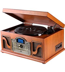 Lauson tocadiscos bluetooth madera cl146