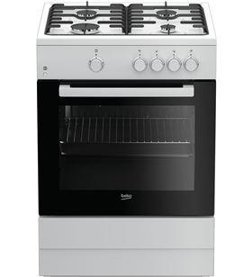 Beko cocina convencional FSG62000DWL 4 fuegos