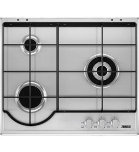 Sihogar.com zanussi placa de cocción a gas 60cm zgg65334xa