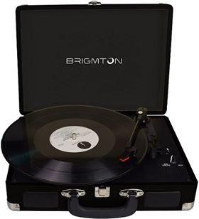 Brigmton tocadiscos portatil grabador negro btc_404_n BRIBTC_404_N - BTC 404 N