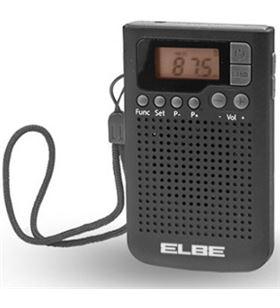 Elbe RF93 radio de bolsillo digital negra, de bols - 8435141904658