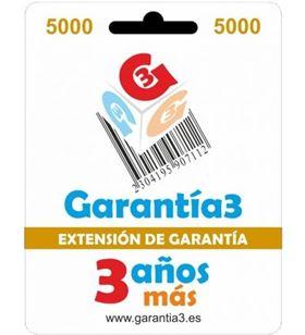 Garantia para productos hasta 5000eur. extensión de garantía de tres años adicionales g3es5000