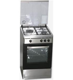 Rommer cocina gas VCH356XFGINOXNAt,3 fuegos, tapa cristal,89x55x60 - VCH356XFGINOXNAT