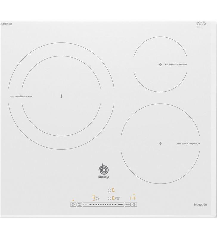 Balay 3EB965BU placa electrica induccion 60cm 3 zonas blanca - 3EB965BU