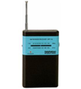 Radio am/fm analógica Daewoo drp-100 negra/azul + auriculares DAEDBF134 - DAEDBF134