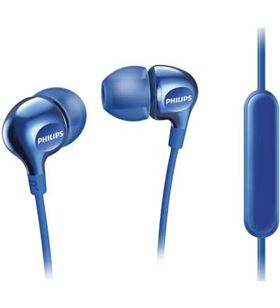 Auriculares Philips she3705 micrófono silicona azules PHISHE3705BL_00