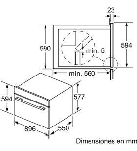 Horno indep 60cm Bosch VBD5780S0 negro 112l a+ pir - VBD5780S0