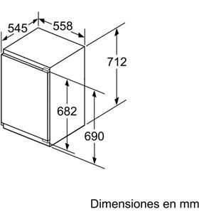 Congelador vertical integ Balay 3GI1047S 71cm a++ Congeladores verticales integrables - 3GI1047S