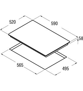 Placas inducción Cata 'ib 6303 bk 08063101 Placas induccion - 08063101
