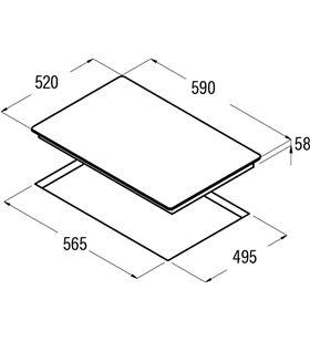 Placas inducción Cata ib 6203 bk 08073400 Vitroceramicas induccion - 08073400