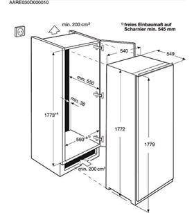 Aeg congelador vertical de integracion abe81816ns 177cm AEGABE81816NS - ABE81816NS