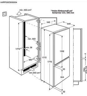 Aeg frigorifico combi de integracion SCE81824TS no frost 177cm - SCE81824TS