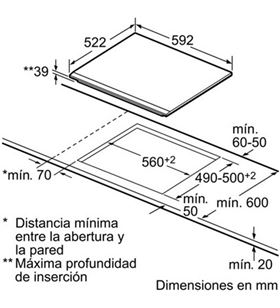 Bosch placa vitroceramica PKF631B17E Vitroceramicas induccion - PKF631B17E