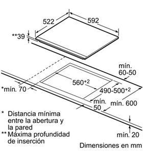 Bosch placa vitroceramica PKF631B17E Vitroceramicas - PKF631B17E