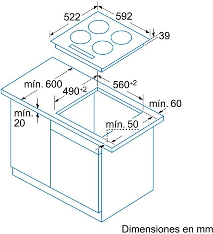 Balay vitroceramica independiente eb715lr 3fuegos bisel 3EB715LR - 17566344_1266