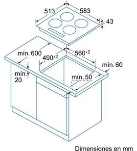 Vitroceramica independiente Balay 3EB715XR, 3fuegos, digm - 3EB715XR