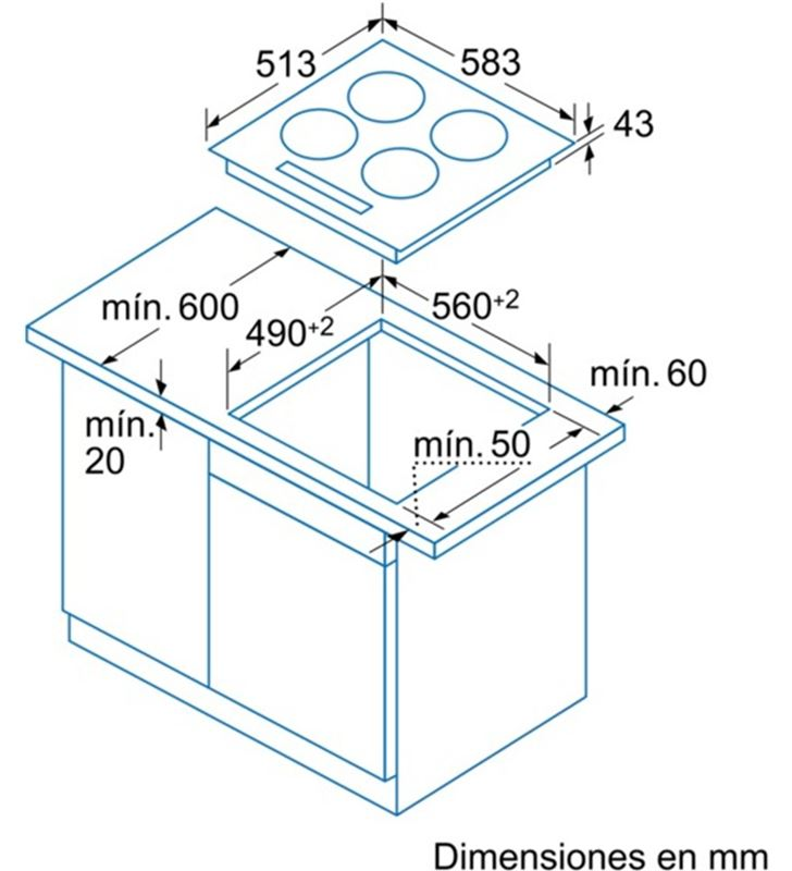 Vitroceramica indep. Balay 3EB715XR, 3fuegos, digm - 17493832_2670