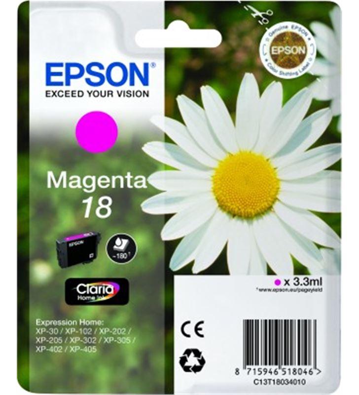 Cartucho tinta Epson C13T18034010 magenta (margar Fax digital y cartuchos de tinta - 14094260-EPSON-C13T18034010-19861