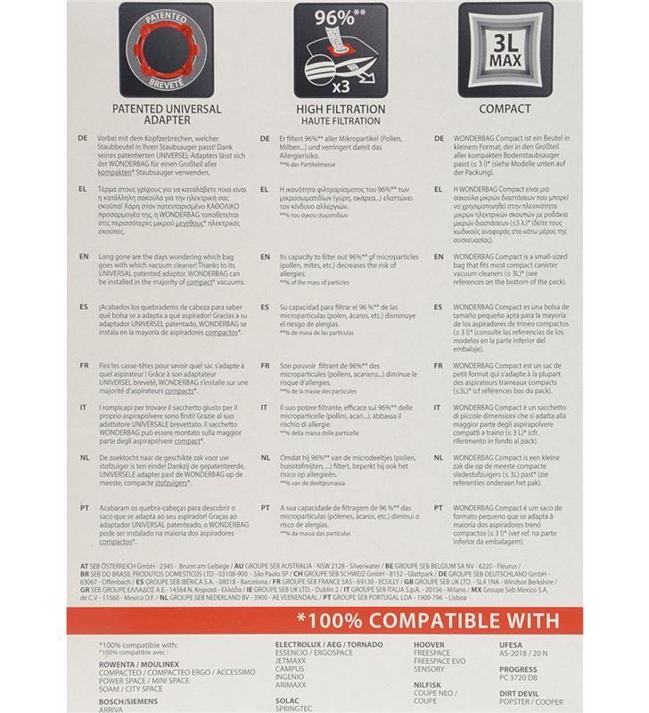 Bolsa aspirador universal Rowenta WB305120 wonder Accesorios y recambios de aspiradora - 7060519_9741