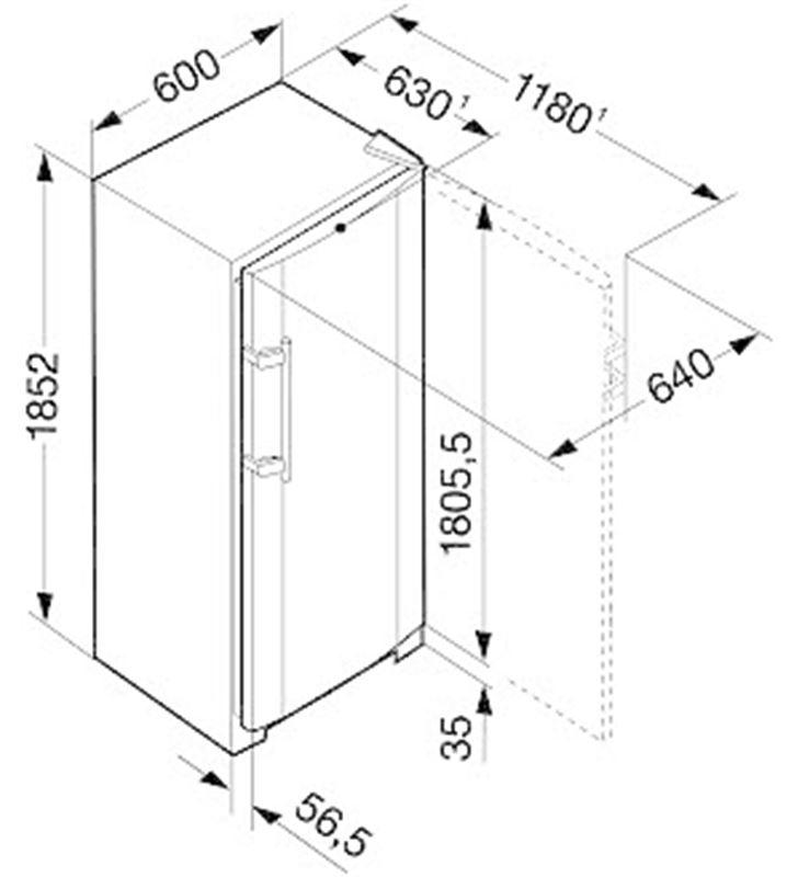 Liebherr congelador vertical SGNES3010 no frost Congeladores verticales hasta 99cm - 23126271_5808