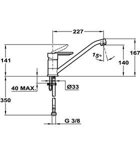 Teka 8191362 grifo mlcr, monomando, caño alto, cromo - 8191362
