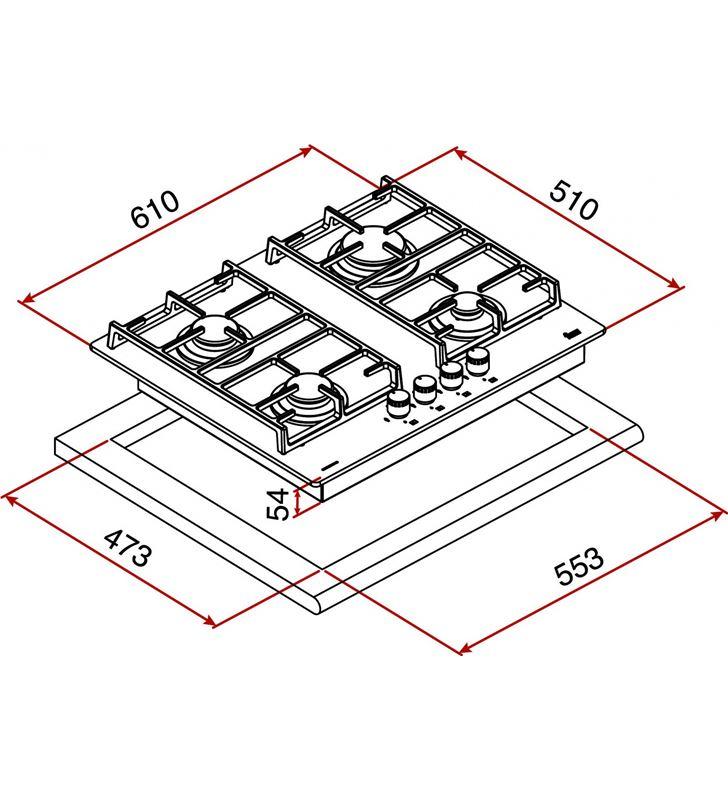 Teka placa cristal-gas cgwlux60 nat 4g aial 4f 61cm 40216210 - 15602203_7836