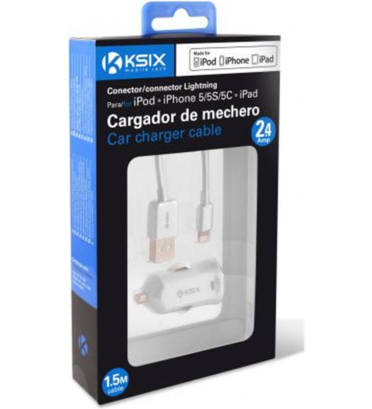 Ksix cargador coche 1a para iphone 5 B0926CAR01 Accesorios de telefonía - 24614996_7814