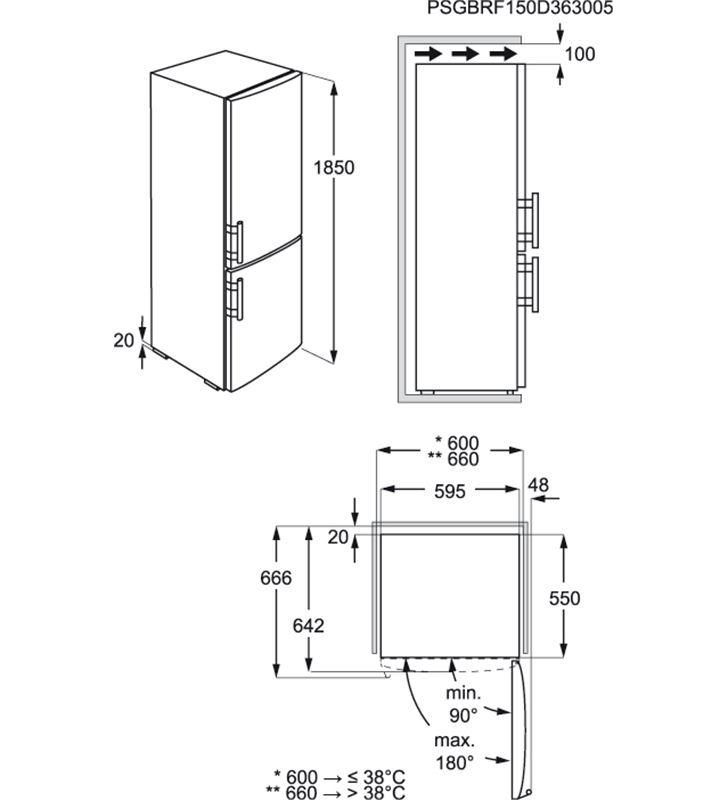 Electrolux frigorifico combi EN3453MOX 184cm Frigoríficos combinados de 180cm a 189cm - 22766342-AEG-925-054-253-4