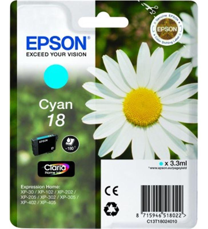 Cartucho tinta Epson C13T18024010 cián (margarita Fax digital y cartuchos de tinta - 14094259-EPSON-C13T18024010-19841