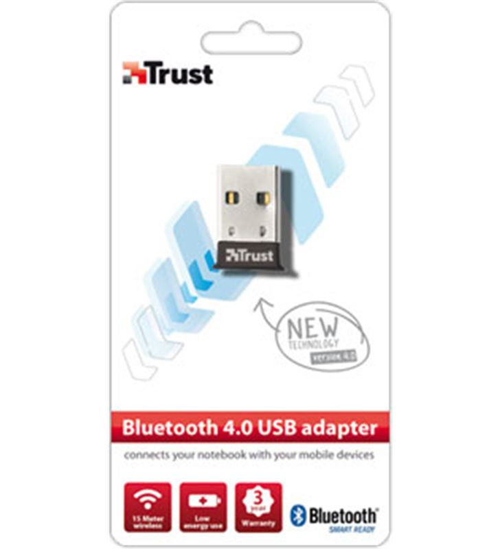 Trust adaptador 18187 usb 2.0 bluetooth 4.0. TRU18187 - 12349229-TRUST-500-18187-2